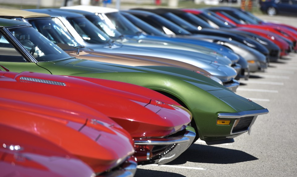 The main parking lot was jammed with Corvettes of various ages as several car clubs drove as a group to  the 2016 Regional Judging Meet of the National Corvette Restorers Society at the Canadian Warplane Heritage Museum.   John Rennison The Hamilton Spectator 9/24/16